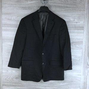 Hart Schaffner Marx Black 2 Button Jacket Blazer